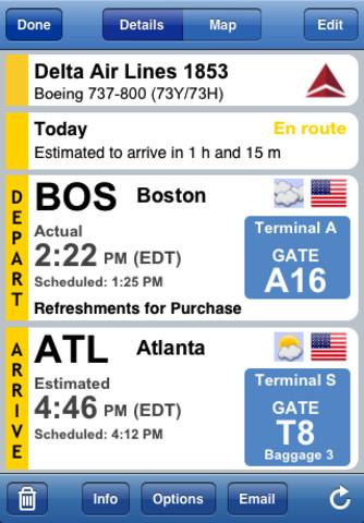 Flight Update applicazione per smartphone