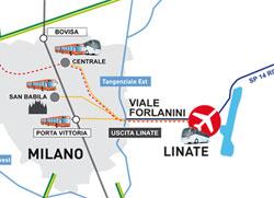 Vie d'accesso ad aeroporto Linate