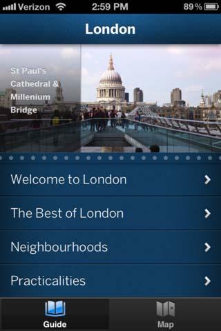 Applicazione smartphone Londra a piedi