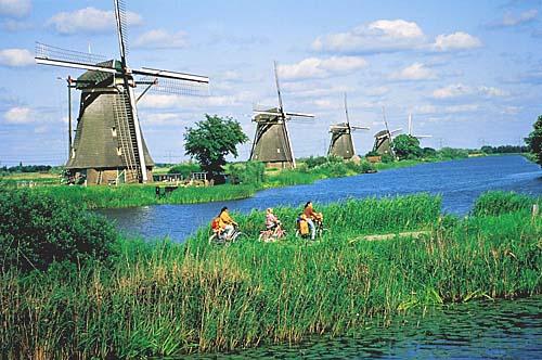 In bici nei Paesi Bassi