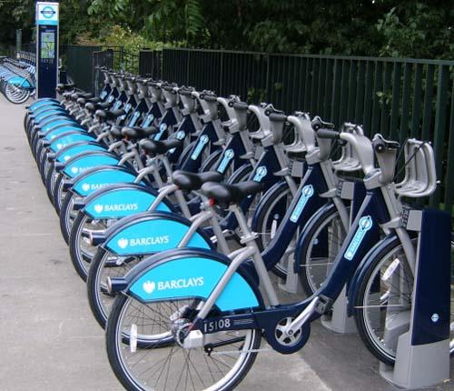 Una stazione del Cycle Hire di Londra
