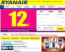 Sito Ryanair acquisto on line biglietti aerei