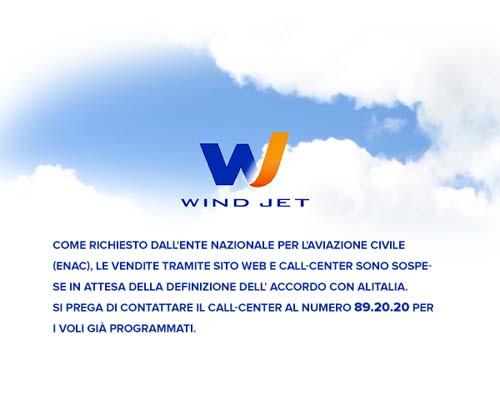 Windjet blocca la vendita dei biglietti aerei