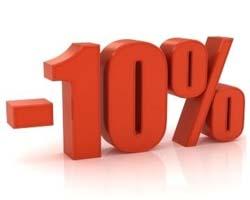 codice sconto del 10 per cento per prenotazioni alberghiere