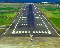La pista dell'Aeroporto Fontanarossa di Catania