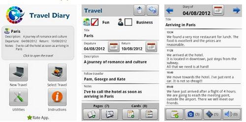 Diiario del Viaggio applicazione per smartphone