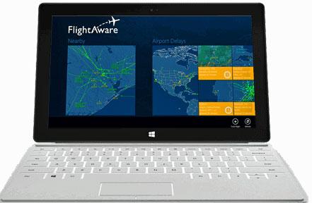 FlightAware monitoraggio voli per Pc con Windows 8
