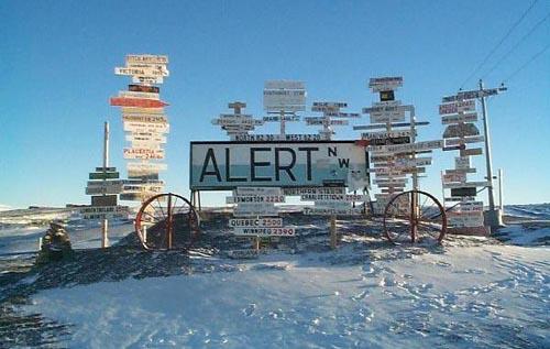 alert mile signpost