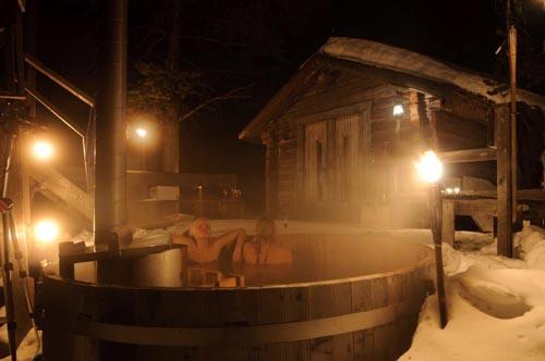 Lapponia svedese tinozze bagno caldo Svansele