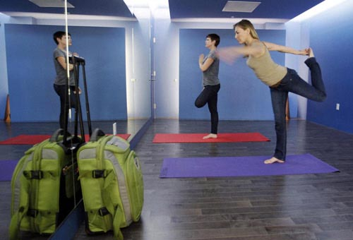 aeroporto yoga-lezione--s-francisco