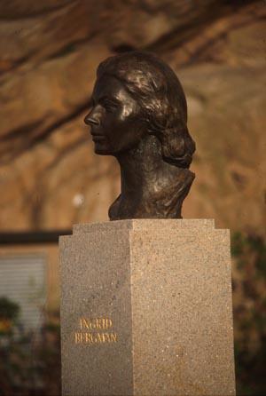 Svezia cucina Fjallbacka - Statue of actress Ingrid Bergman