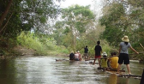 trasporto Barca-de-bambu