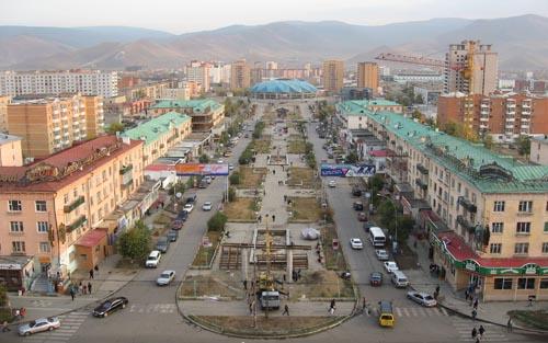 Mongolia The-city-center-of-Ulaanbaatar