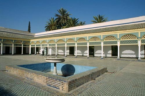 marrakech cortile-del-palazzo-di-bahia
