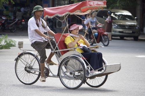 riscio ickshaw in Hanoi