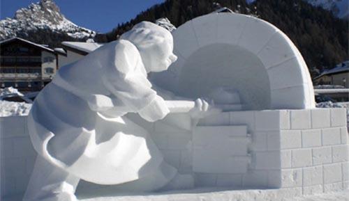 sculture. di neve