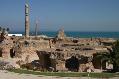 tunisia carthage therme antonin