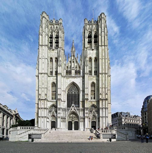 bruxelles St. Michael  St. Gudula Cathedral Tower Brussels