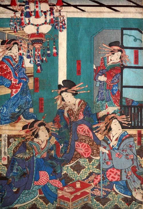 edo immagine-del-piano-superiore-del-palazzo-di-kinpeiro-nella-nuova-yoshiwara-citta-di-edo-1-chome