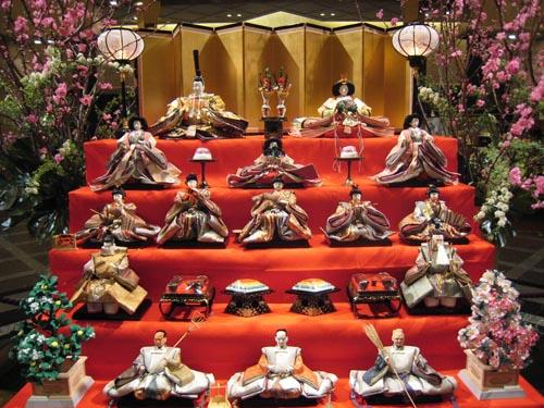 giappone Hina matsuri display